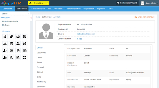 Employee Self Service Software